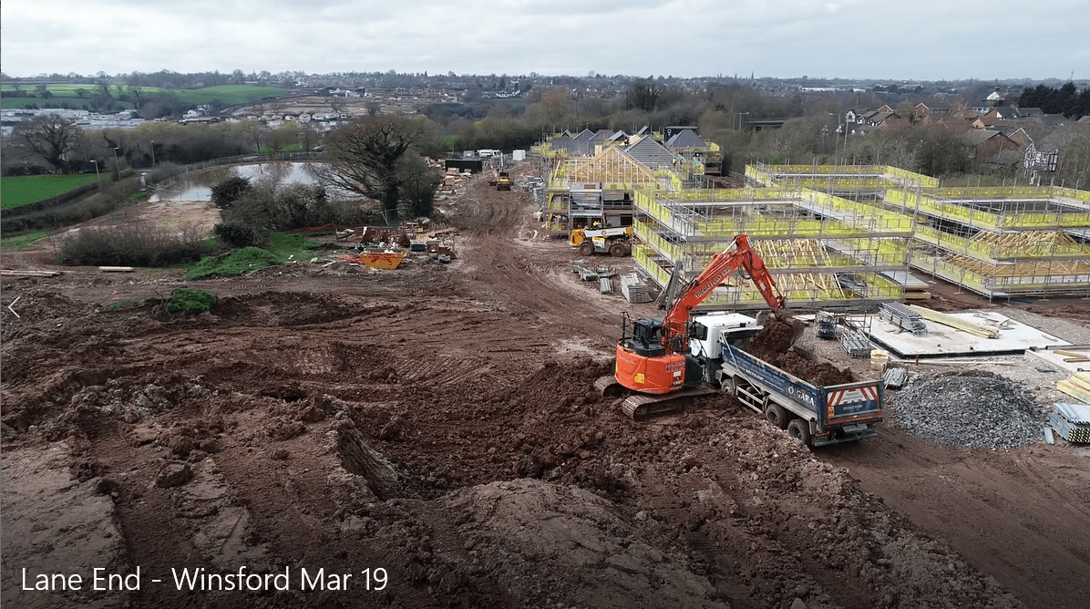 Aerial Footage Of Our Rilshaw Lane New Build Residential